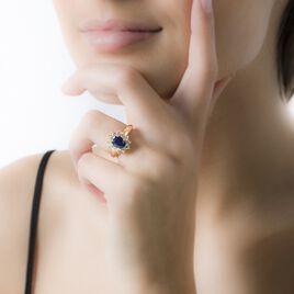 Bague Vladimir Or Blanc Saphir Et Diamant - Bagues avec pierre Femme   Histoire d'Or