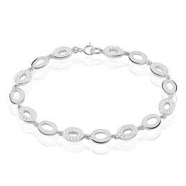 Bracelet Cicily Argent Blanc Oxyde De Zirconium - Bijoux Femme   Histoire d'Or