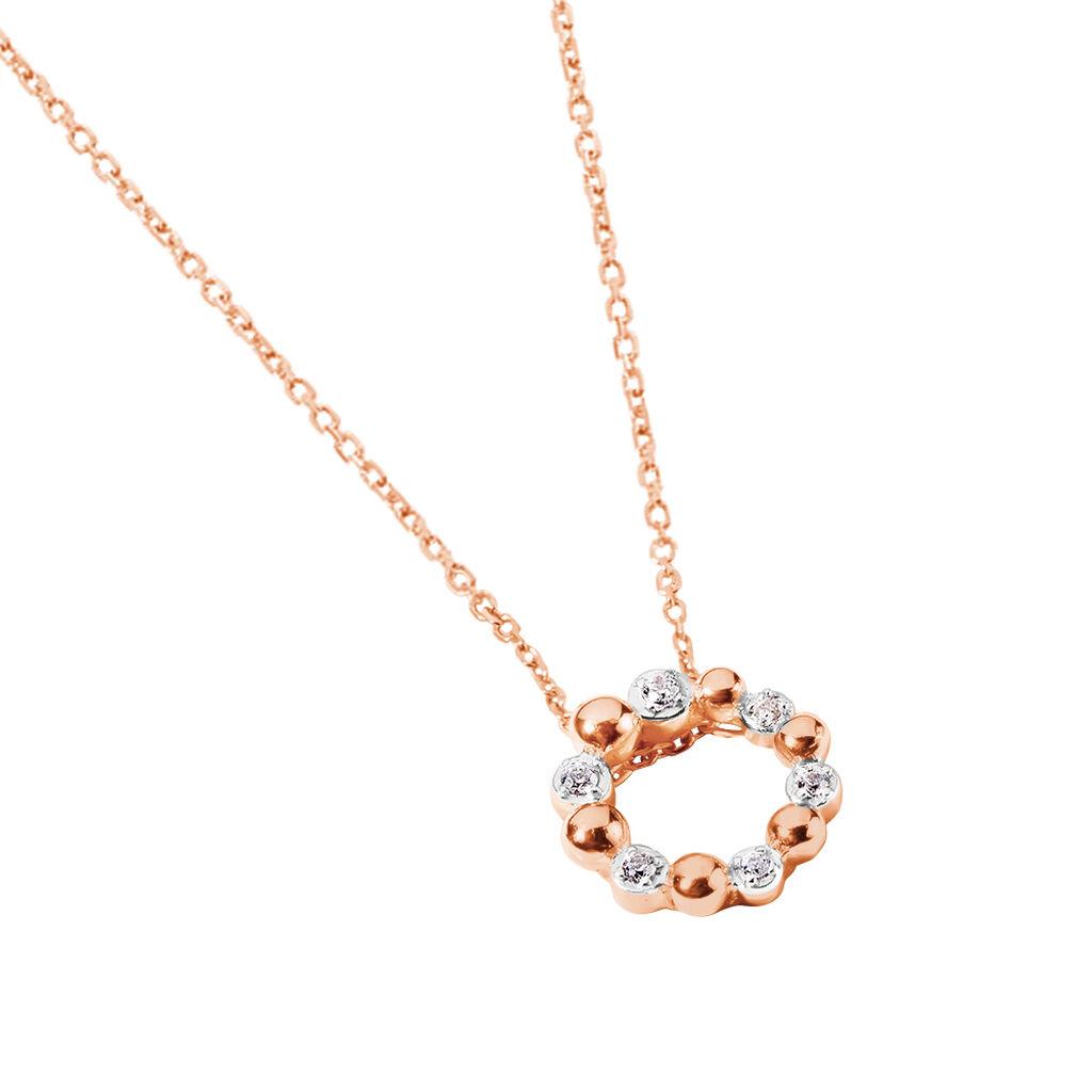 Collier Gloria Or Rose Diamant - Bijoux Femme   Histoire d'Or