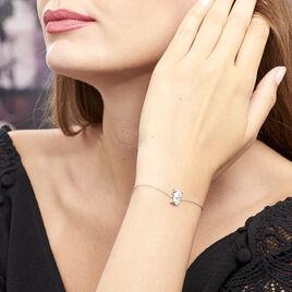 Bracelet Origami Argent Blanc - Bracelets fantaisie Femme | Histoire d'Or