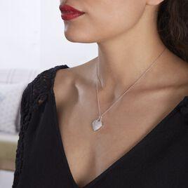 Collier Achilles Argent Blanc Oxyde De Zirconium - Colliers Coeur Femme   Histoire d'Or