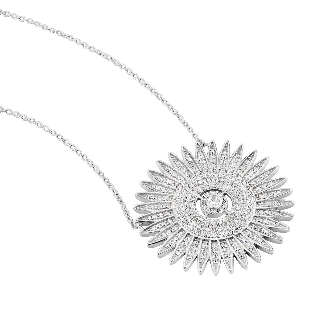 Collier Noele Argent Blanc Oxyde De Zirconium - Bijoux Femme | Histoire d'Or