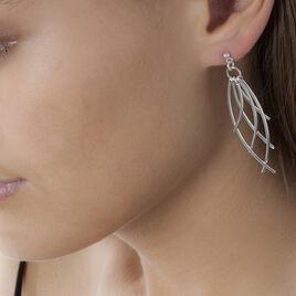 Boucles D'oreilles Pendantes Tarita Argent Blanc - Boucles d'oreilles fantaisie Femme | Histoire d'Or