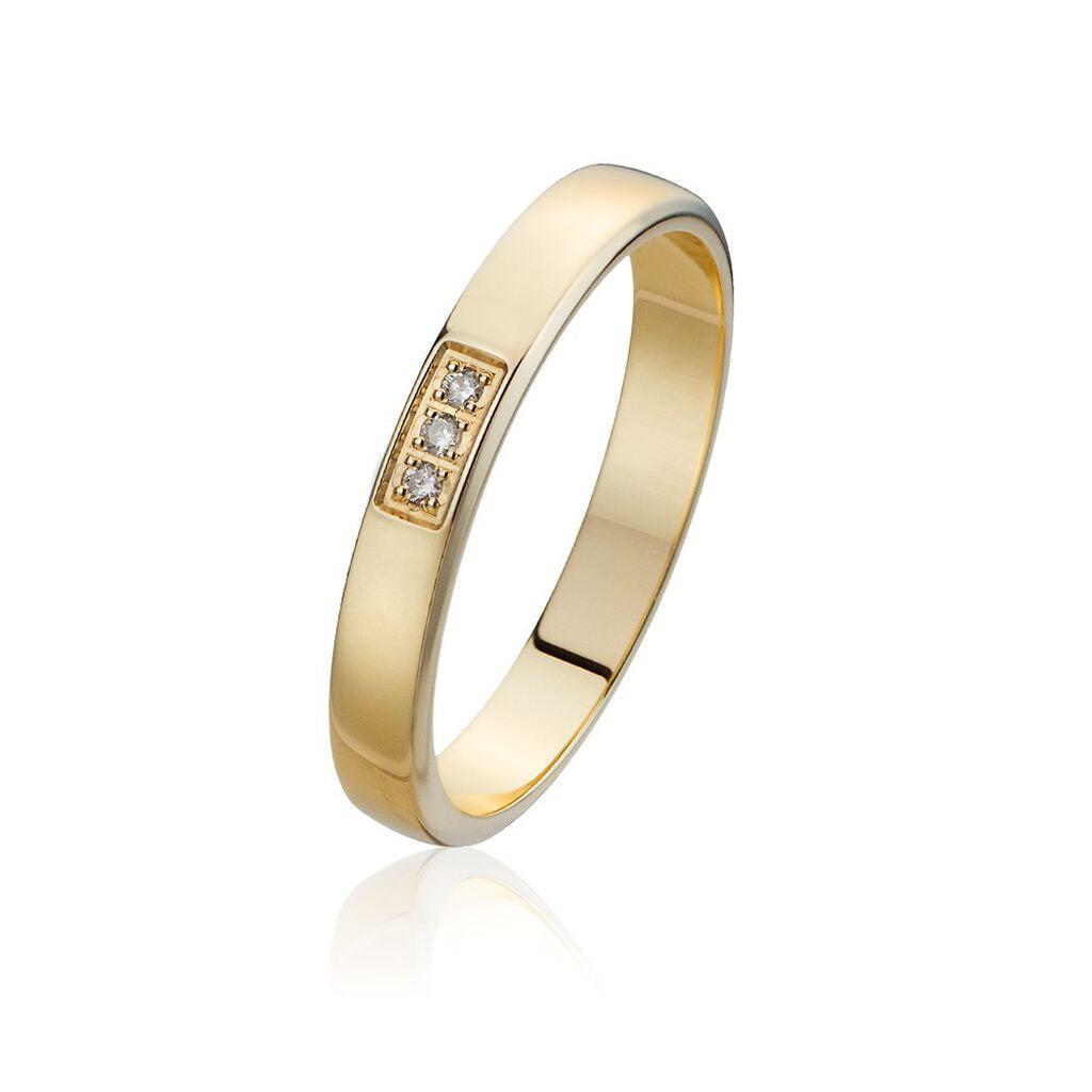 Alliance Or Jaune Et Diamants 3mm - Alliances Femme | Histoire d'Or