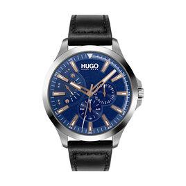 Montre Hugo Leap Bleu - Montres Homme   Histoire d'Or