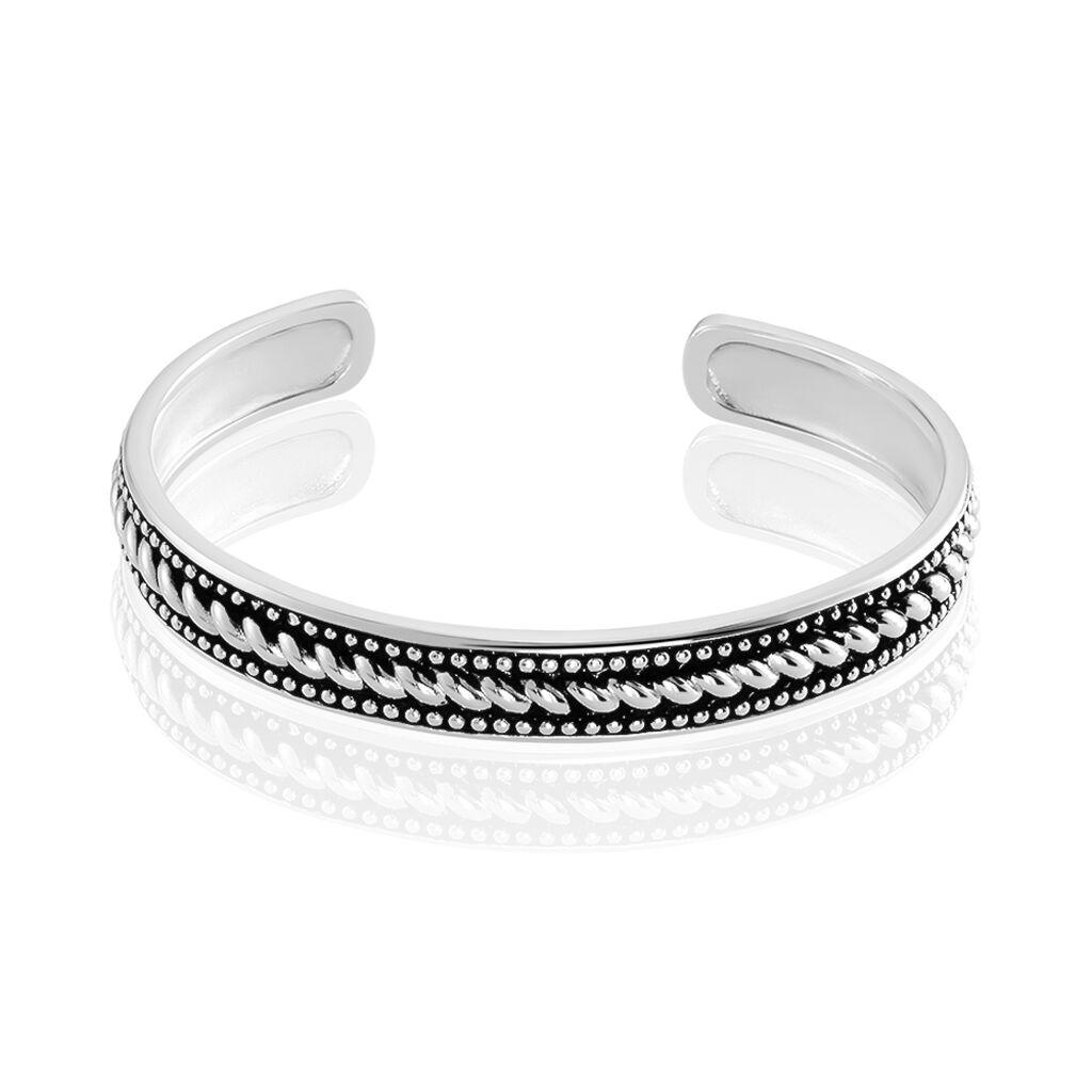 Bracelet Jonc Matthias Argent Blanc - Bracelets joncs Homme | Histoire d'Or