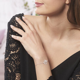 Bracelet Hita Argent Blanc - Bracelets Plume Femme | Histoire d'Or