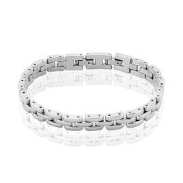 Bracelet Yoela Maille Grain De Riz Acier Blanc - Bracelets fantaisie Femme | Histoire d'Or