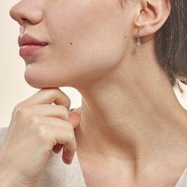 Boucles D'oreilles Pendantes Madli Or Bicolore Topaze - Boucles d'oreilles pendantes Femme   Histoire d'Or
