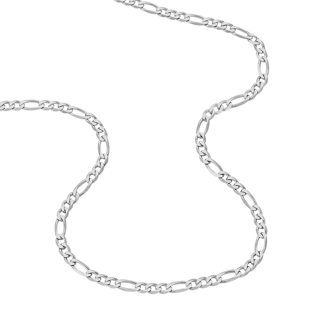 Chaine Maille Alternée 1/3 Argent Blanc - Chaines Homme   Histoire d'Or