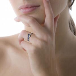Bague Amelie Or Blanc Saphir Et Diamant - Bagues avec pierre Femme   Histoire d'Or