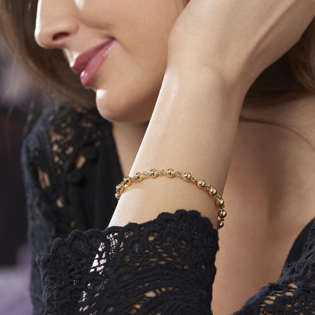 Bracelet Diona Maille Boule Or Jaune - Bracelets chaîne Femme | Histoire d'Or