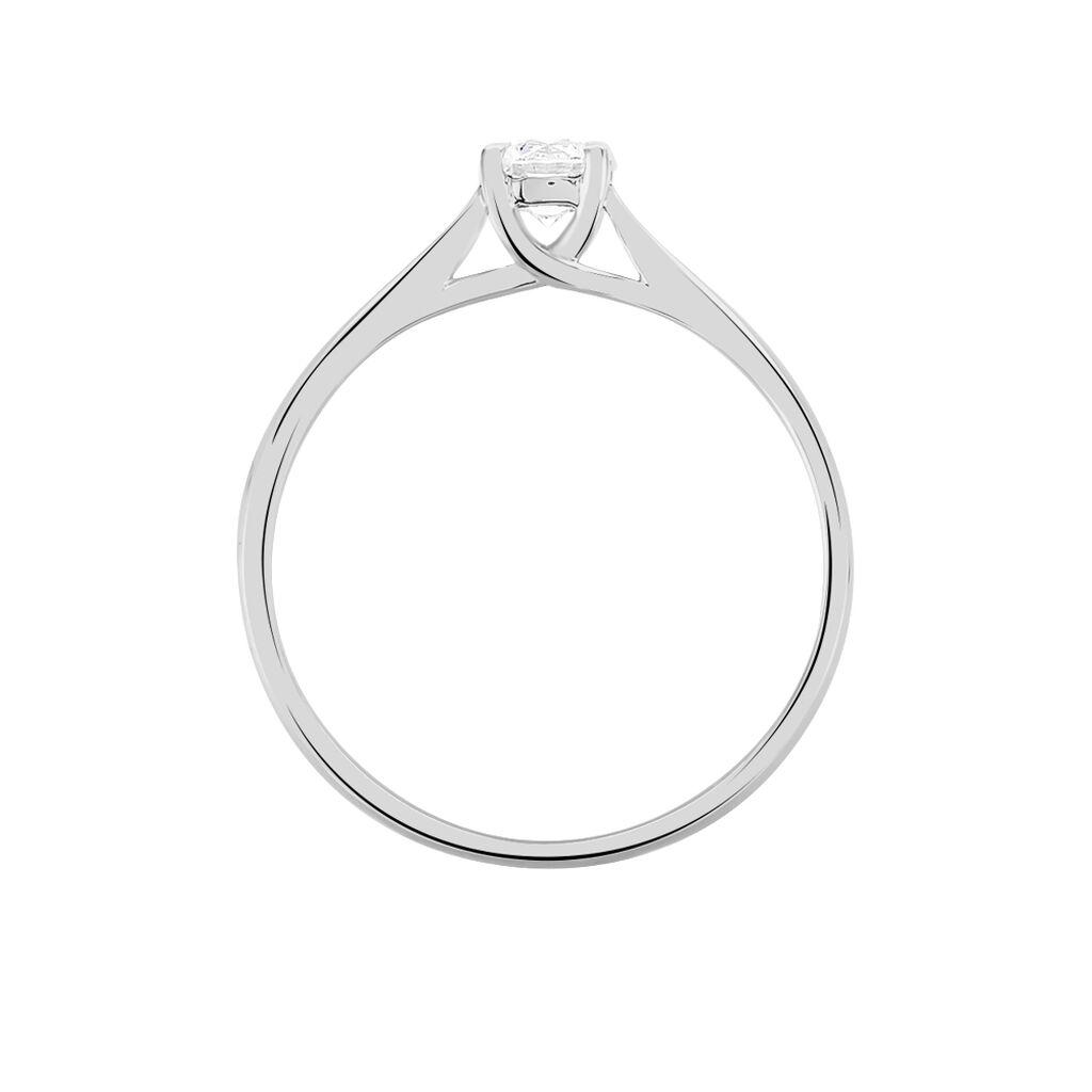 Bague Solitaire Victoria Or Blanc Diamant - Bagues avec pierre Femme | Histoire d'Or