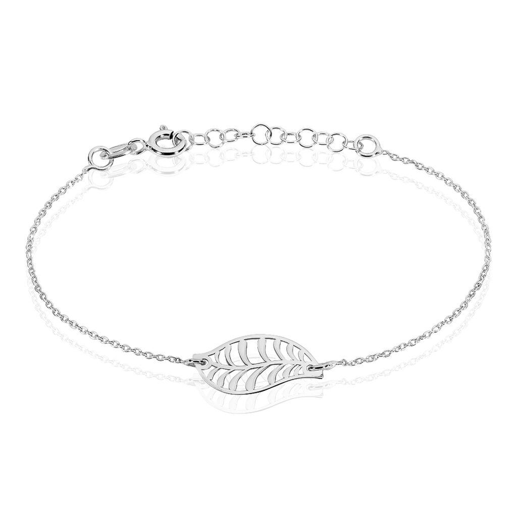 Bracelet Indian Argent Blanc - Bracelets Plume Femme | Histoire d'Or