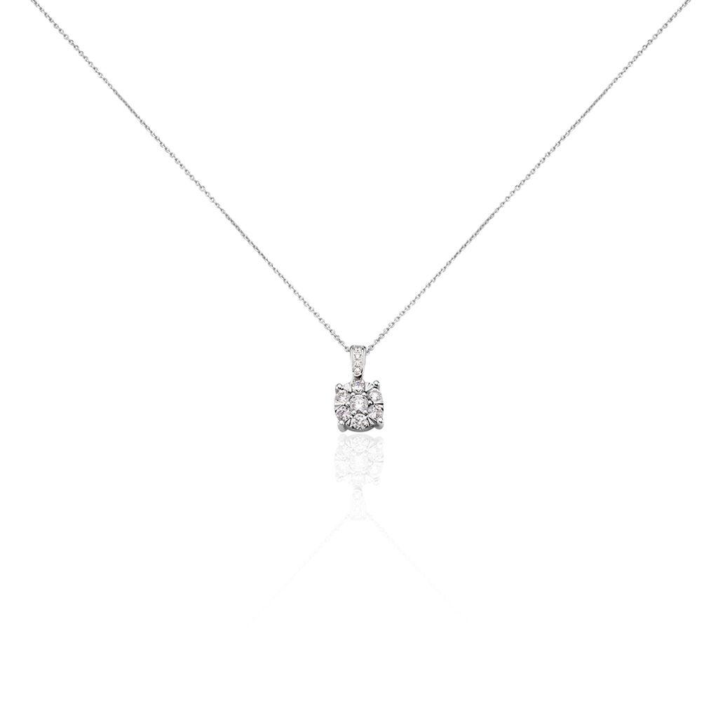 Collier Nazare Or Blanc Oxyde De Zirconium - Bijoux Femme   Histoire d'Or