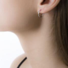 Créoles Dominae Flexible Or Blanc - Boucles d'oreilles créoles Femme | Histoire d'Or