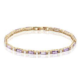 Bracelet Luteciaae Plaque Or Jaune Oxyde De Zirconium - Bijoux Femme | Histoire d'Or
