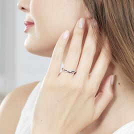Bague Florentina Or Blanc Saphir Et Diamant - Bagues avec pierre Femme   Histoire d'Or