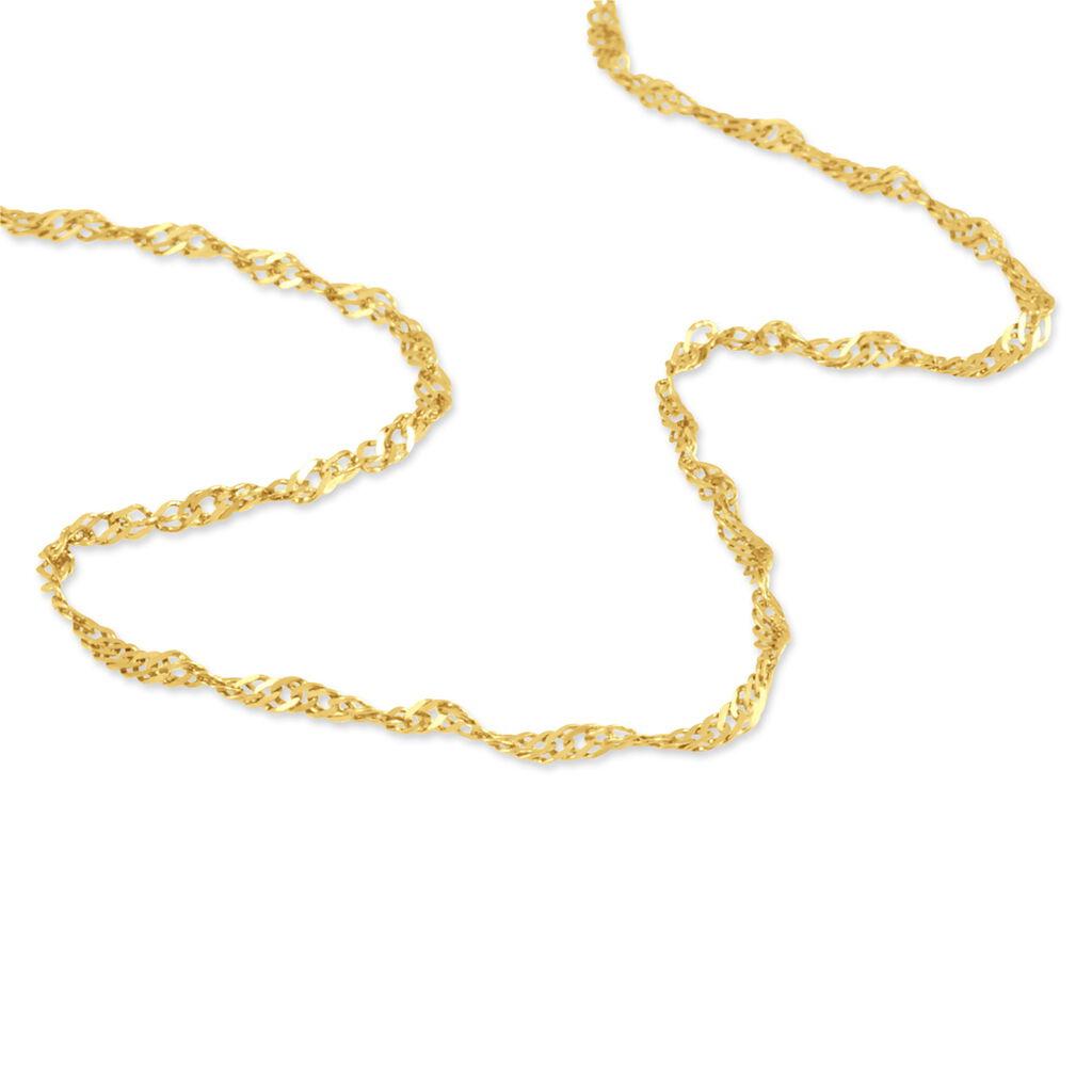 Chaîne Imanie Maille Singapour Or Jaune - Chaines Femme | Histoire d'Or