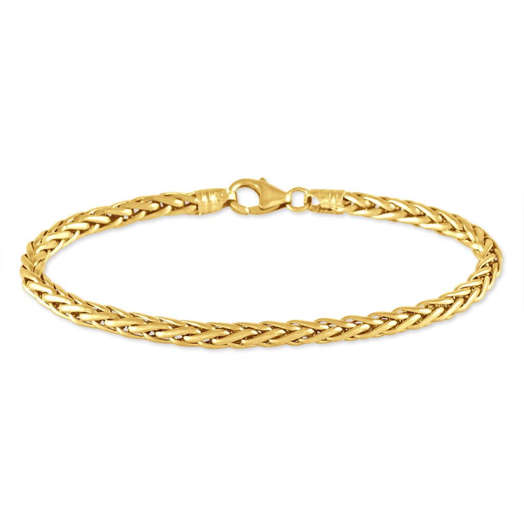 Bracelet Jayna Maille Palmier Or Jaune - Bracelets chaîne Femme   Histoire d'Or
