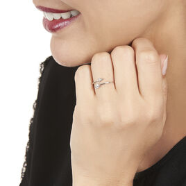 Bague Cupidon Or Blanc Et Diamant - Bagues avec pierre Femme   Histoire d'Or