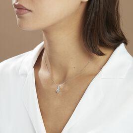 Collier Clothilde Or Blanc Topaze Et Oxyde De Zirconium - Colliers Coeur Femme | Histoire d'Or