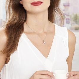 Collier Cataleya Argent Blanc Oxyde De Zirconium - Colliers fantaisie Femme | Histoire d'Or