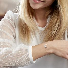 Bracelet Laubna Argent Blanc - Bracelets fantaisie Femme   Histoire d'Or