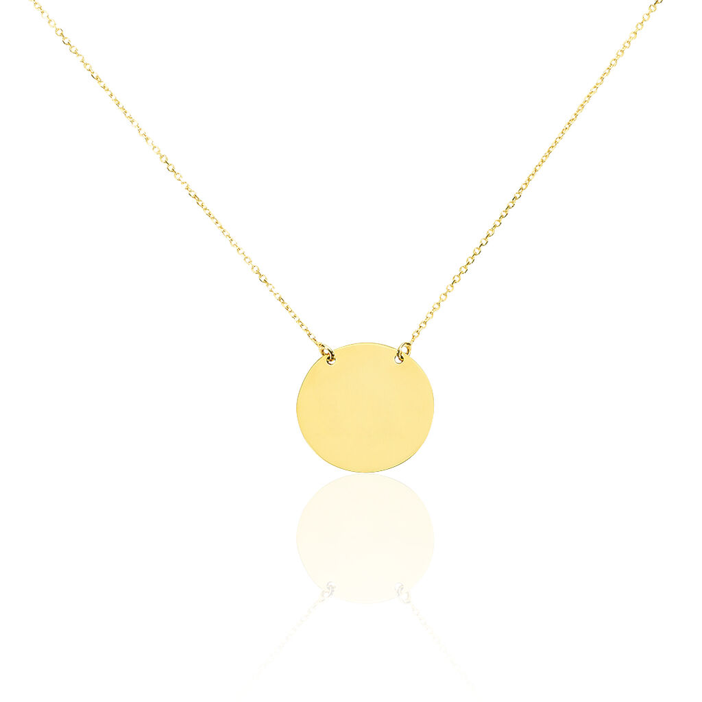 Collier Helenia Pastille Gravable Or Jaune