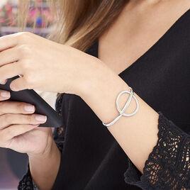 Bracelet Jonc Timie Acier Blanc - Bracelets fantaisie Femme | Histoire d'Or