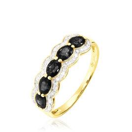 Bague Or Jaune Margaux Onyx - Bagues avec pierre Femme | Histoire d'Or