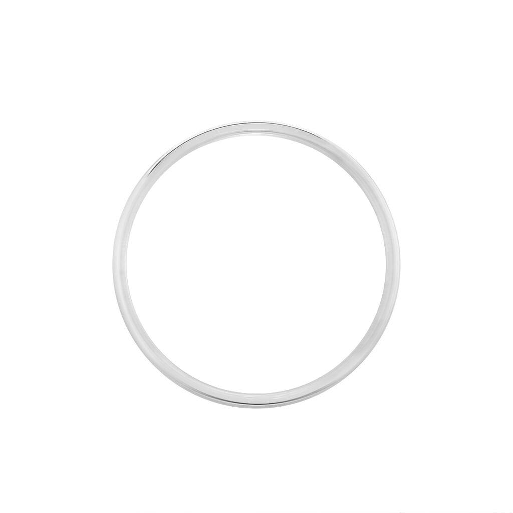 Alliance Artemis Ruban Plat Or Blanc - Alliances Famille | Histoire d'Or