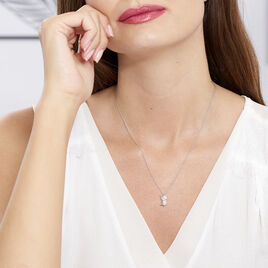 Collier Origami Argent Blanc - Colliers fantaisie Femme | Histoire d'Or