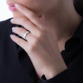 Bague Morjana Or Blanc Oxyde De Zirconium - Bagues avec pierre Femme | Histoire d'Or