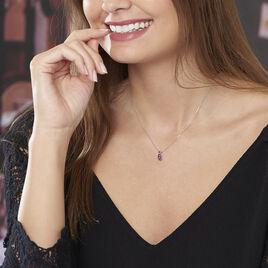 Collier Yrene Or Blanc Amethyste - Bijoux Femme | Histoire d'Or