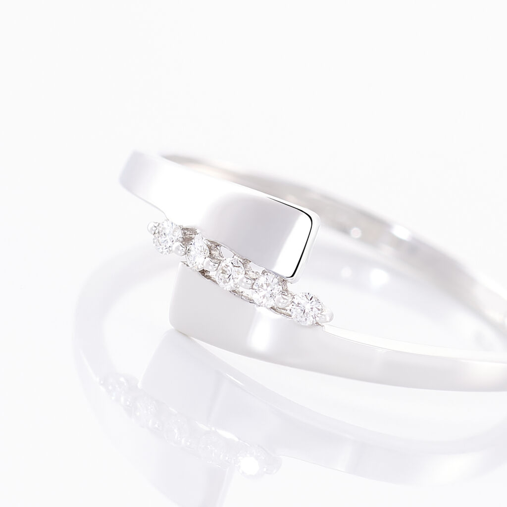 Bague Abbie Or Blanc Diamant