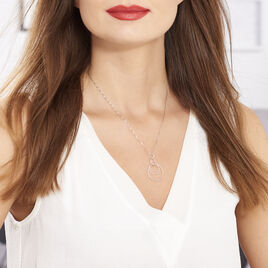 Collier Flaura Argent Blanc - Colliers fantaisie Femme | Histoire d'Or