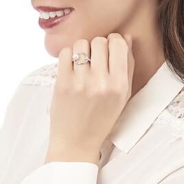 Bague Tiguide Argent Blanc Perle D'imitation Et Oxyde De Zirconium - Bagues avec pierre Femme   Histoire d'Or