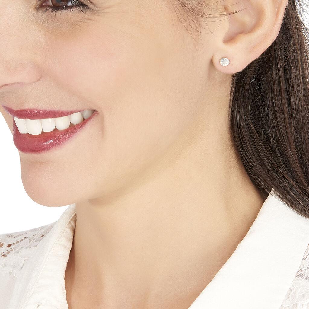 Boucles D'oreilles Puces Teani Or Jaune Diamant - Clous d'oreilles Femme | Histoire d'Or