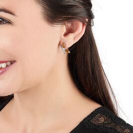 Boucles D'oreilles Pendantes Argent Blanc Ambre - Boucles d'oreilles fantaisie Femme | Histoire d'Or