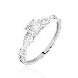 Bague Roseline Or Blanc Diamant - Bagues solitaires Femme | Histoire d'Or
