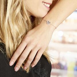 Bracelet Argent Rhodie Helenius Oxydes De Zirconium - Bracelets Coeur Femme | Histoire d'Or
