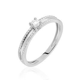 Bague Solitaire Taymiya Or Blanc Diamant - Bagues avec pierre Femme | Histoire d'Or
