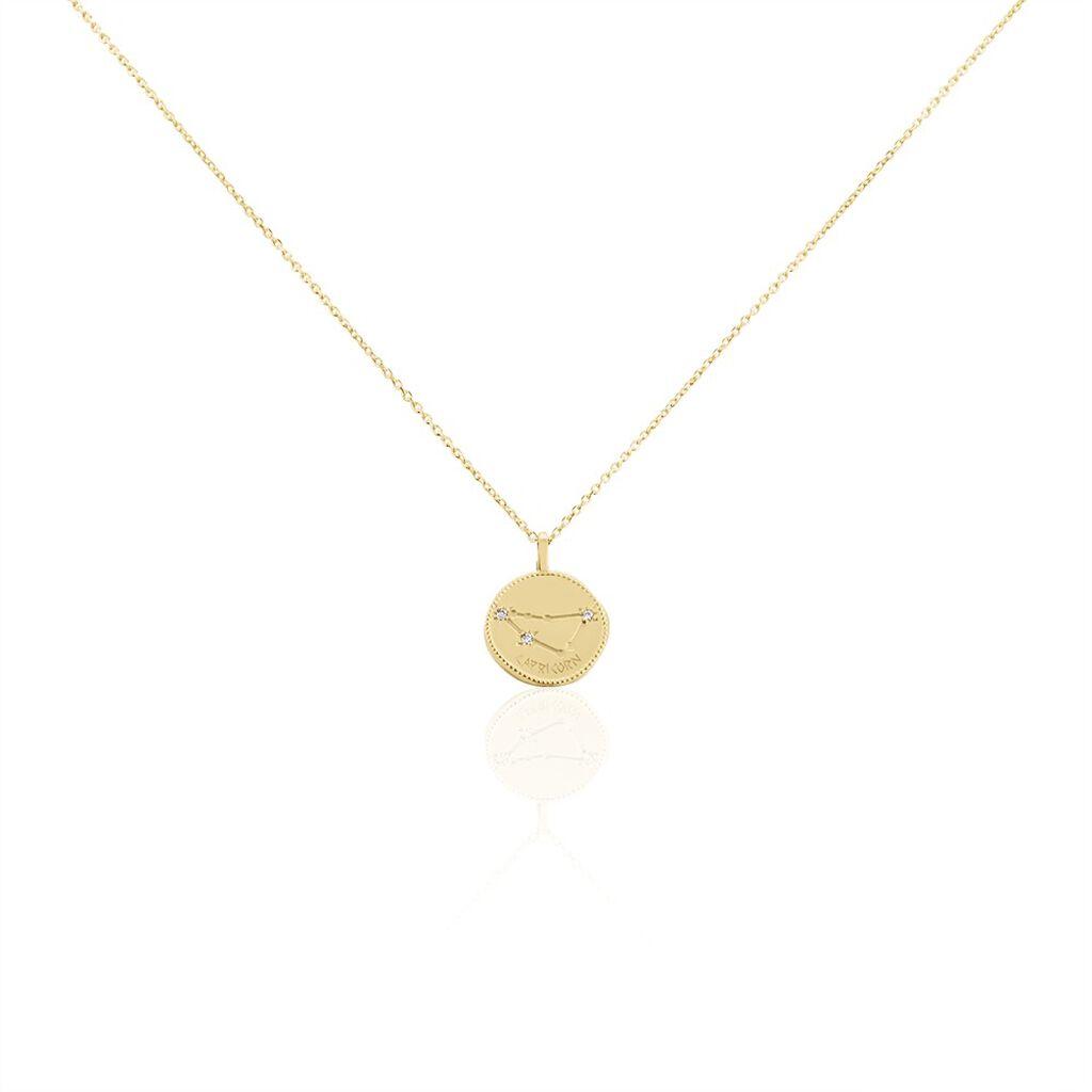 Collier Iago Plaque Or Oxydes De Zirconium - Sautoirs Femme | Histoire d'Or