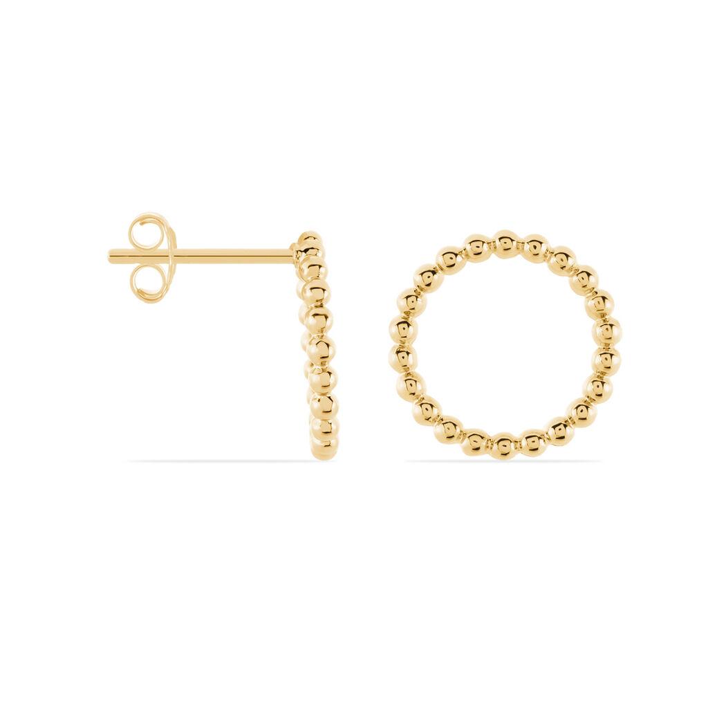 Boucles D'oreilles Puces Abigael Plaque Or Jaune - Boucles d'oreilles fantaisie Femme   Histoire d'Or