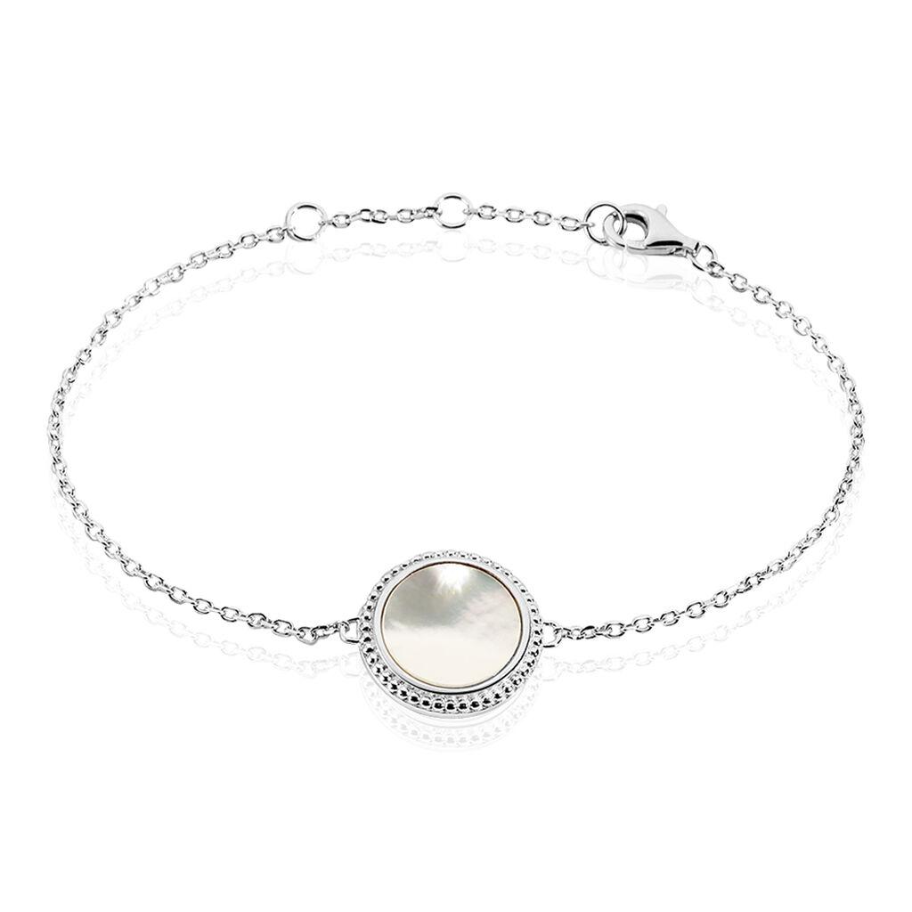 Bracelet Laetizia Celine Argent Blanc Nacre - Bracelets fantaisie Femme   Histoire d'Or