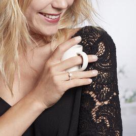 Bague Solitaire Laetitia Or Jaune Diamant Synthetique - Bagues solitaires Femme   Histoire d'Or