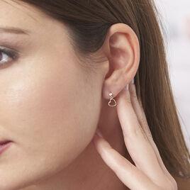 Boucles D'oreilles Pendantes Daria Cœur Or Jaune - Boucles d'Oreilles Coeur Femme | Histoire d'Or
