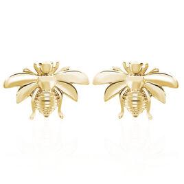 Boucles D'oreilles Puces Abdelia Plaque Or Jaune - Boucles d'oreilles fantaisie Femme   Histoire d'Or