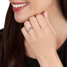 Bague Onenn Or Blanc Diamant - Bagues avec pierre Femme | Histoire d'Or